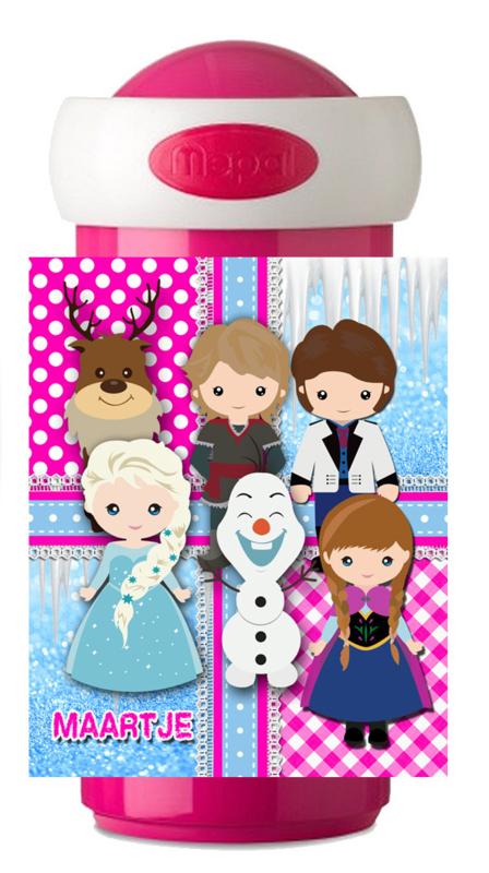 Drinkbeker Frozen like characterized pink