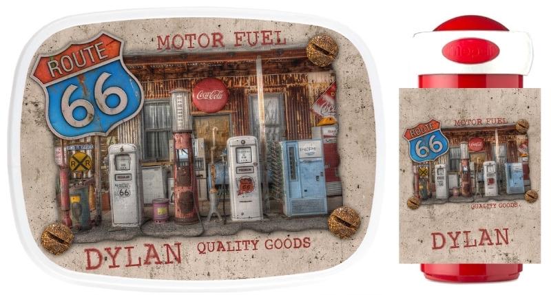 Set broodtrommel en drinkbeker Motor Fuel