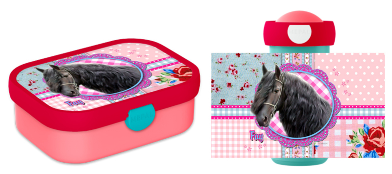 Set Mepal broodtrommel en drinkbeker paard Meike