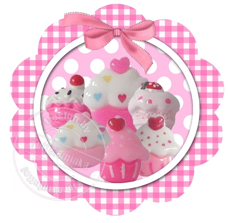 Strijkapplicatie Cupcakes