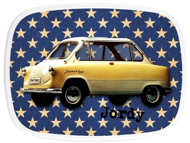 Broodtrommel Old yellow car