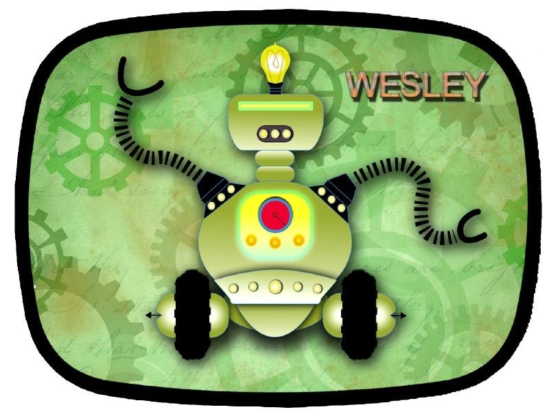 Broodtrommel Robot green