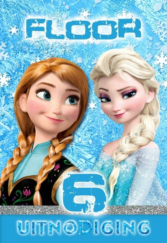 Kinderfeest uitnodiging Frozen, setje van 5 stuks
