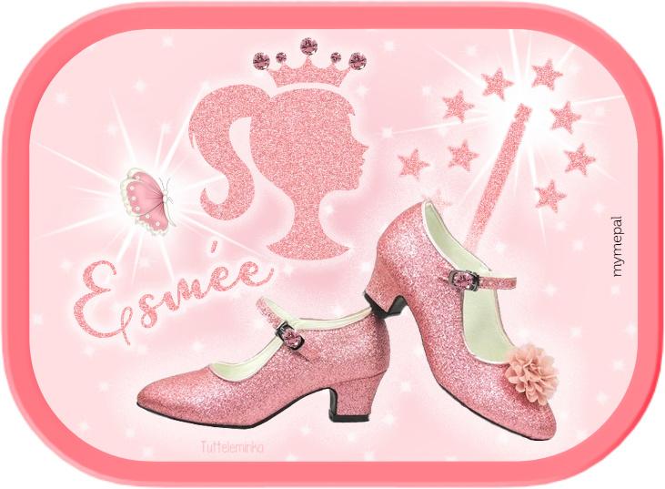 Mepal broodtrommel Pink Glitter Prinses