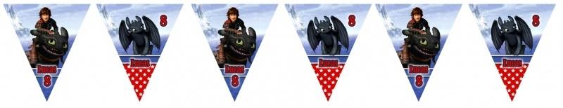 Kinderfeest vlaggenslinger Hoe tem je een draak