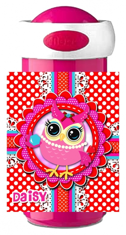 Drinkbeker Uiltje Pinky Red