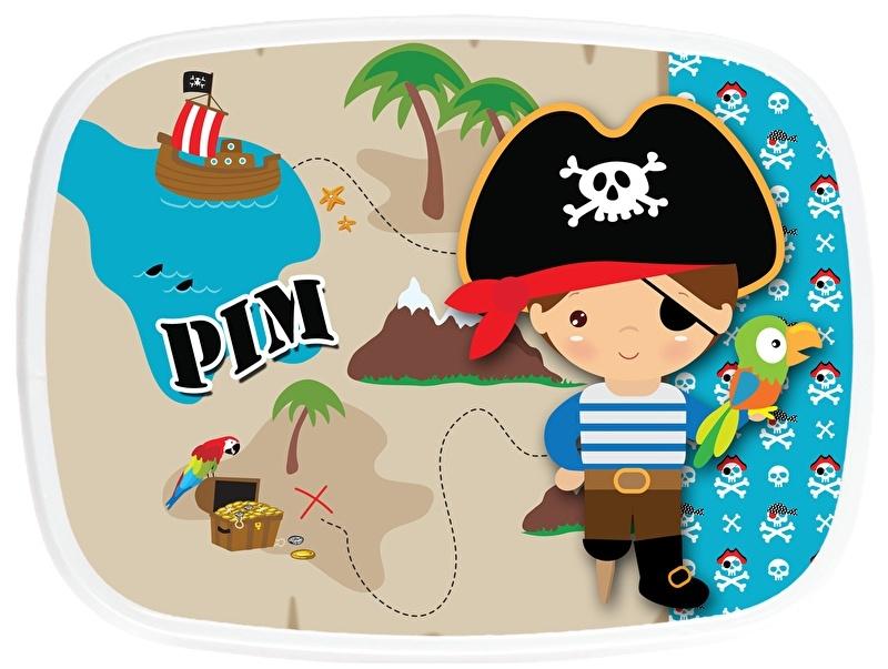 Broodtrommel Piraat schatkaart
