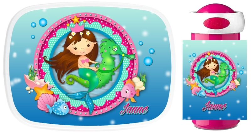 Set Mepal broodtrommel en drinkbeker Mermaid (zeemeermin)