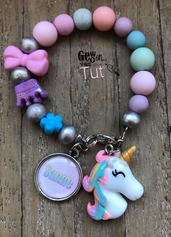 Armbandje unicorn rainbow