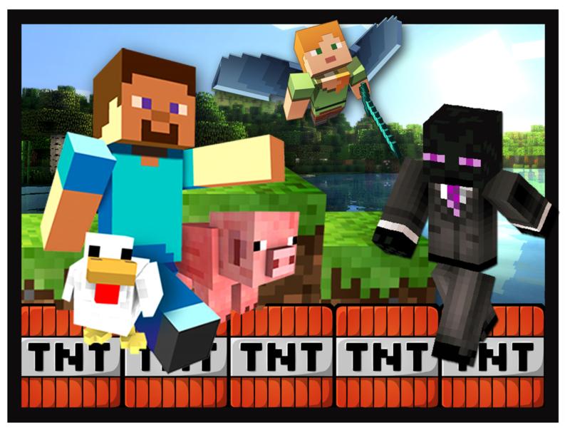 Strijkapplicatie Minecraft TNT