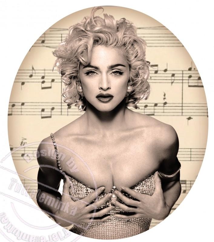 FOR THE LADY`S!!! strijkapplicatie Madonna, ± 20 cm