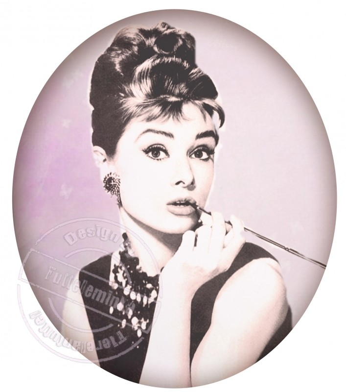 FOR THE LADY`S!!! strijkapplicatie Audrey Hepburn, ± 20 cm