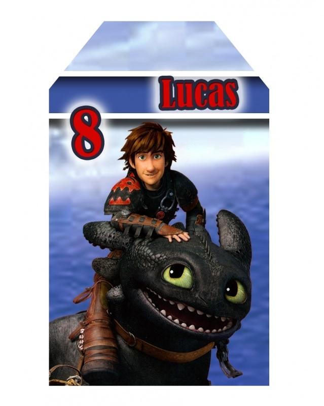 Kinderfeest traktatie labels Hoe tem je een draak, setje van 5 stuks