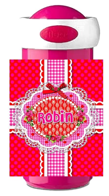 Drinkbeker Sweet Pink met naam