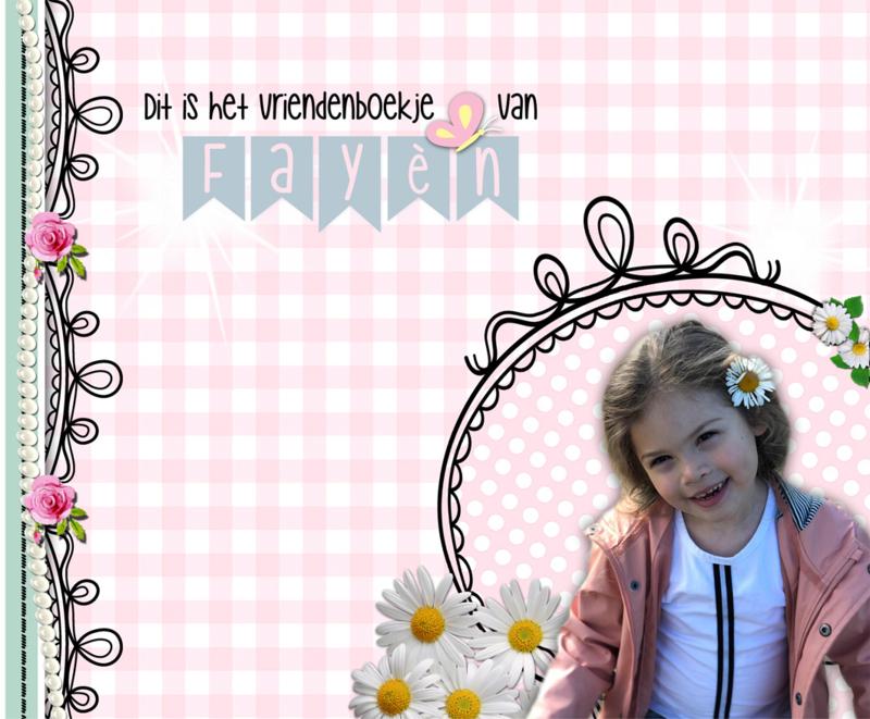 Vriendenboekje Meiden met naam en foto!