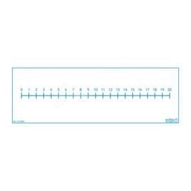 Getallenlijn 0-20, whiteboard