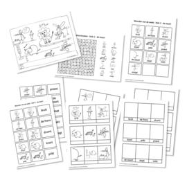 Spellingkleurplaten - Blok 2 - de staart (PDF-bestand)