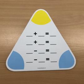 Driehoek rekenbord plus & min (gebruikt)