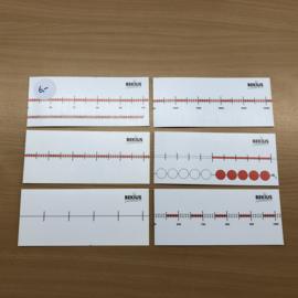 Getallenlijnen - set van 6 stuks (gebruikt)