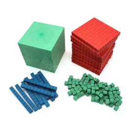 RE-Wood® MAB materiaal: Montessori-set (121 delig)
