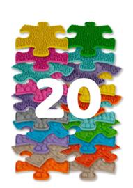 Muffik Sensorische Speelmatten, set van 20 mini puzzelstukjes