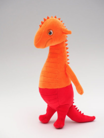 Knuffel: Draakje Vurig (oranje/rood)