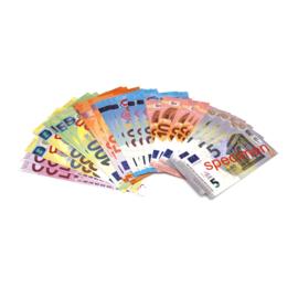 Euro biljetten speelgeld, set van 40