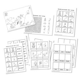 Spellingkleurplaten - Blok 5 - de beer (PDF-bestand)