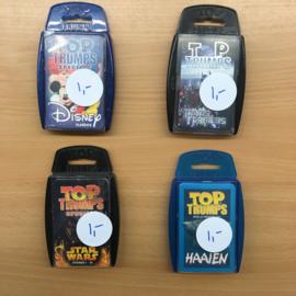 Top Trumps, set van 4 kaartspellen (gebruikt)
