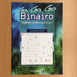 Boek: Binairo niveau 3 & 4 vanaf 10 jaar (gebruikt)