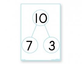 Rekenbord voor splitssommen, whiteboard