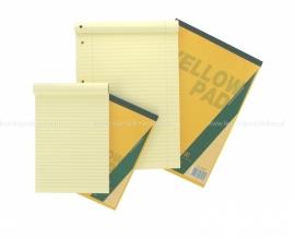 Schrijfblok geel A5 (Yellow pad)