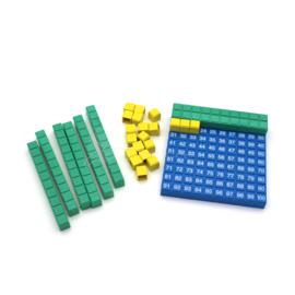 RE-Plastic® Honderdveld Rekenbord 10 x 10cm