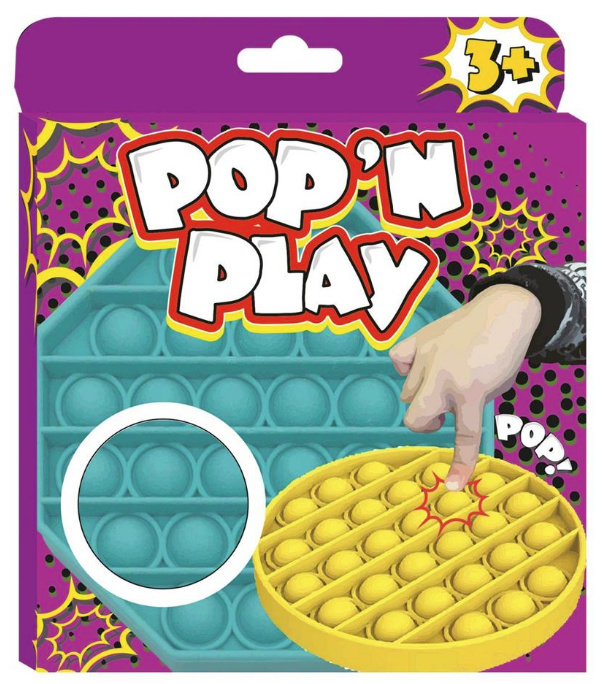Stress Pop 'N Play - Pop it - Fidget Toy (vierkant)