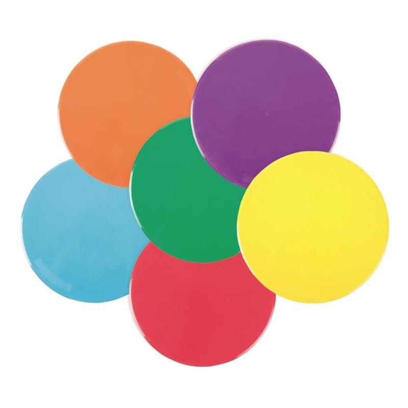 Vloermarkers - Cirkels (set van 6 stuks)