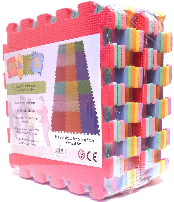 Edz Matz Foam Puzzel Speelmat, 18 stukken