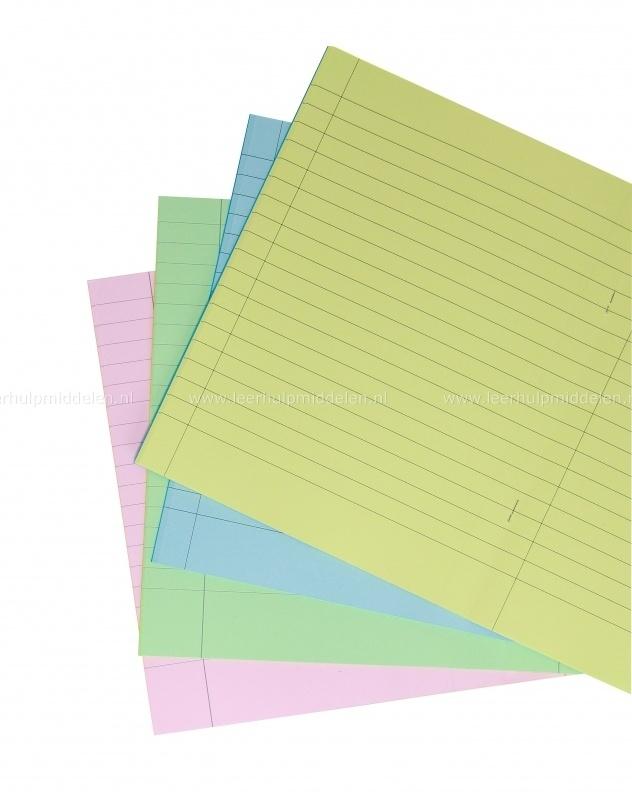 Gekleurd Lijntjesschrift A5+