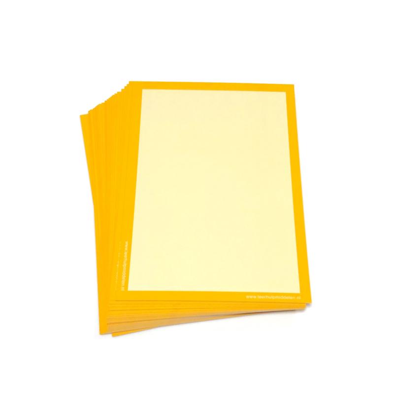 Gekleurde wisbordjes A5, 30 stuks