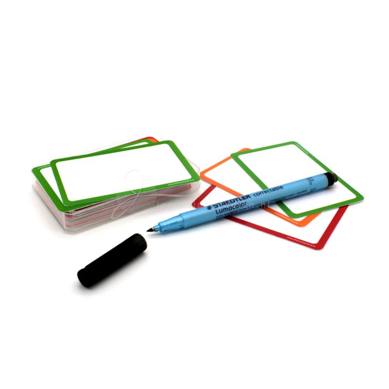 Flitskaarten, 30 stuks + doosje en stift