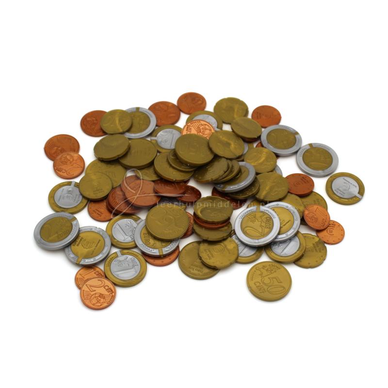 Euromunten speelgeld, set van 80