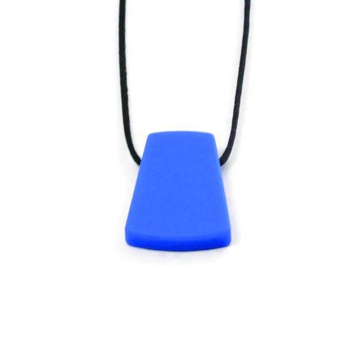 Siliconen Bijtketting, trapezium (blauw)