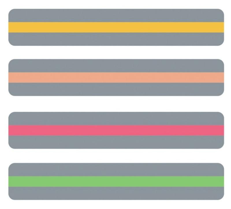 Ashley Leesliniaal, smal (set van de 4 nieuwe kleuren)
