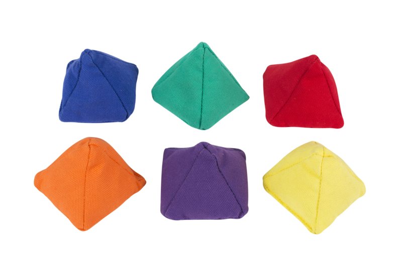 Piramide pittenzakjes - set van 6 stuks