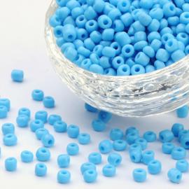 Zakje mooie rocailles 20 gram Seed Beads 6/0  4mm gat: 1,5mm Light Sky Blue