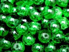 5 x  prachtige grote crackle kraal 14mm gat c.a. 1,5mm groen