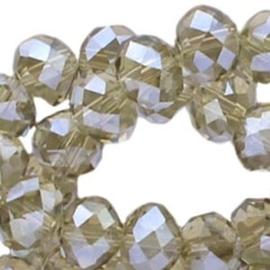 15 x Topfacet 8x6 mm Licht Grijs Diamond