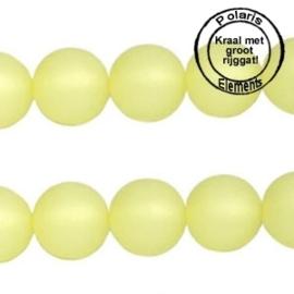 5 x Polaris kralen mat rond 12 mm Jonquil geel groot gat 2,5mm