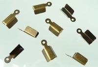10 Stuks Veterklem brons (voor veter) 9 x 4 mm