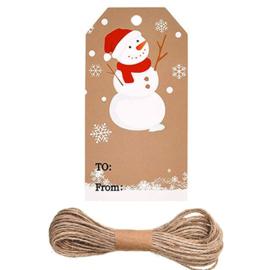 100 stuks stevige bruine labels prijskaartjes kerst  5x3cm bruin