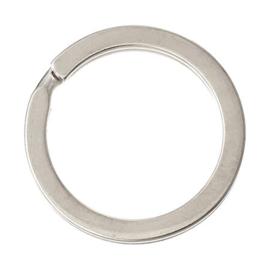 2 x Metalen Sleutelhanger Ring 25 mm Zilver